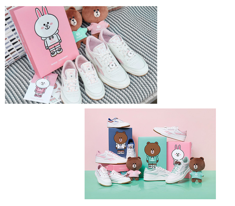 64a549b2c37 Reebok South Korea official website has officially started selling Reebok  Classic x LINE FRIENDS series of joint shoes. These series are only  available in ...