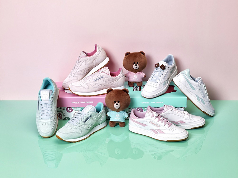 3f07aa33c5b5 The LINE FRIENDS collaboration line recreate it using the Classic Leather  and Revenge Plus styles. Both Reebok sneakers that have emphasized the  lovely and ...